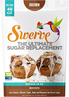 Swerve Brown Sweetener (48 oz): The Ultimate Sugar Replacement. KETO Friendly: Gluten Free: Non GMO: Packs Cup for Cup, Ju...