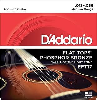 D'Addario EFT17 - Juego de cuerdas para guitarra acústica de fósforo/bronce, 013 - .056