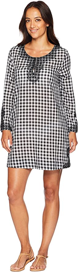 Embellished Gingham Cover-Up