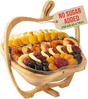 Oh! Nuts Dried Fruit Gift Basket | Healthy No Sugar Added Huge Assortment of Dried Fruit Gourmet Holiday Gift | Food Snack...