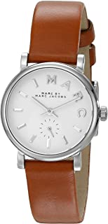 Marc By Marc Jacobs Women's White Dial Leather Band Watch - Mbm1270, Analog Display, Quartz Movement