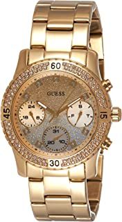 ساعة جيس للنساء بمينا ذهبية وسوار ستانلس ستيل -W0774L5