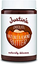 Justin's Chocolate Hazelnut and Almond Butter, Organic Cocoa, No Stir, Gluten-free, Responsibly Sourced, Packaging May Vary, 16oz Jar