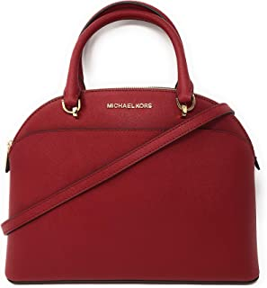 ea6d94d35d57 Michael Kors Emmy Large Dome Saffiano Leather Satchel Shoulder Bag Purse  Handbag