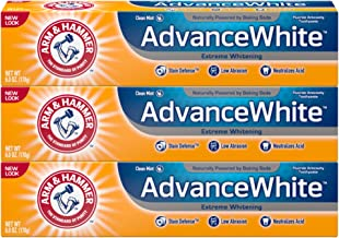Arm & Hammer Advance White Extreme Whitening with Stain Defense, Fresh Mint, 6 oz, 3..