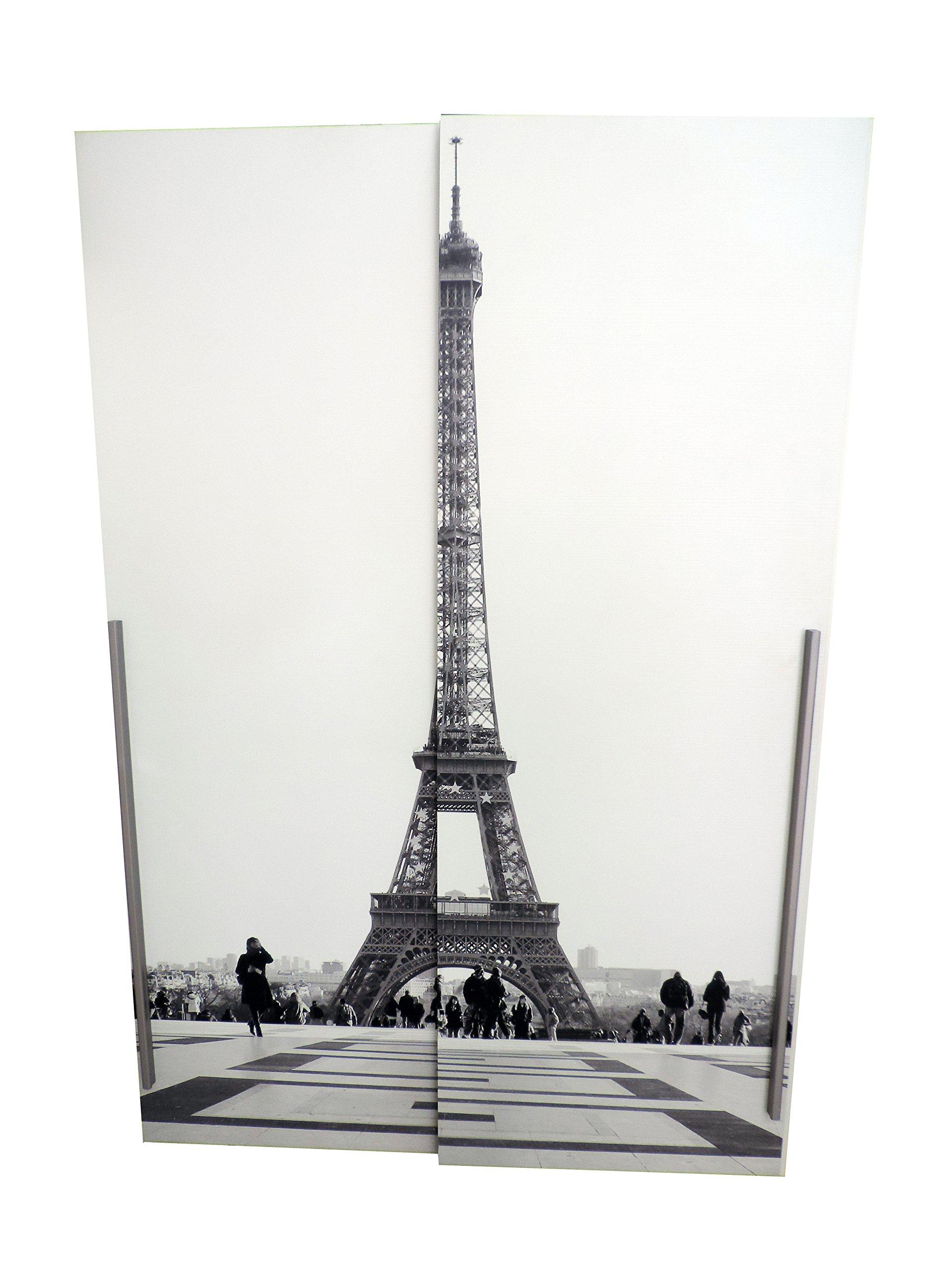 Cloud Tower – Armario con 2 puertas correderas de madera melamina blanca: Amazon.es: Hogar