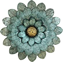 Stratton Home Decor S07728 Morning Glory Flower Wall Decor, W x 1.75 D x 16.00 H, Blue