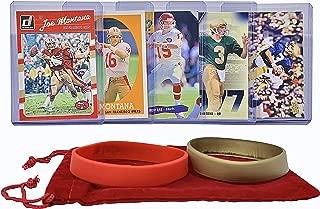 Joe Montana Football Cards (5) Assorted Bundle - San Francisco 49ers Trading Card Gift Set