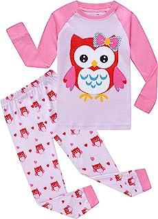 Sponsored Ad - Family Feeling Kids & Toddler Girls Boys Pajamas 2 Piece Pjs Set 100% Cotton Sleepwear