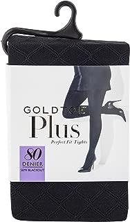 Gold Toe Women's Plus Size Semi Blackout Diamond Fashion Tights, 1 Pair