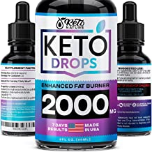 Keto Diet Drops with BHB Exogenous Ketones - Made in USA - Fat Burner & Appetite Suppressant - Natural Keto Liquid - Keto ...