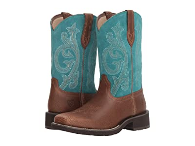 Ariat Prim Rose (Pebbled Brown/Turquoise) Cowboy Boots