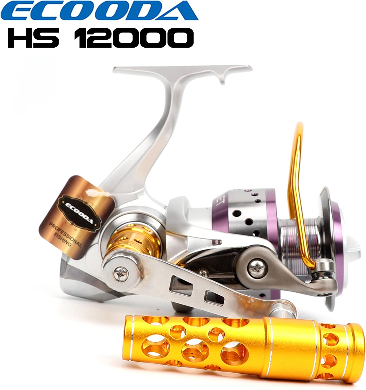 ECOODA Hornet Heavy Duty Metall Spinning Jigs Angelrollen Salzwasser Stiefel Rock Bass Fischerei Rollen HS6000 8000 10000 12000 15000