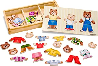 Melissa & Doug Bear Family Dress-Up Puzzle (Preschool, Mix-and-Match Outfits, Sturdy Storage Box, 45 Pieces, Great Gift for Girls and Boys - Best for 3, 4, 5, and 6 Year Olds)
