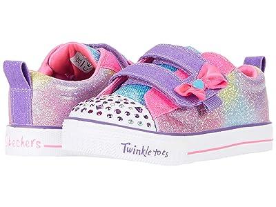 SKECHERS KIDS Twinkle Toes Shuffle Lites 20320N (Toddler/Little Kid) (Hot Pink/Multi) Girl