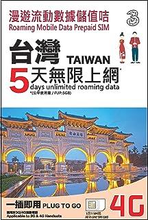 Three 台湾 プリペイド SIM カード / 5日 / 5GB 4G/LTEデータ(超えると128kbpsスピードでSNSのメッセージなど利用可能)/ 基本設定なし(モバイルデータとローミングをオンにするだけ) / Three Taiwan Prepaid Data SIM / 5days / 5GB 4G/LTE data / no APN Setting (just turn on Mobile data and roaming)
