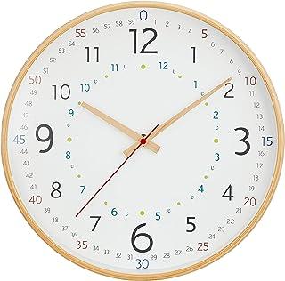 キシマ 掛け時計 ナチュラル 径31.5×奥行4.5cm KNB88068