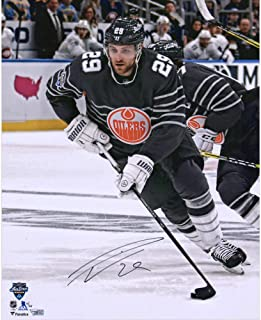 "Leon Draisaitl Edmonton Oilers Autographed 16"" x 20"" 2020 NHL All-Star Game Grey Jersey Photograph - Limited Edition of 20 - Fanatics Authentic Certified"