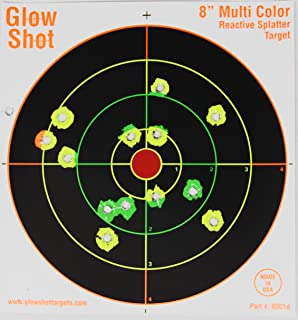 "75 Pack – 8"" Reactive Splatter Targets – Glowshot – Multi Color.."