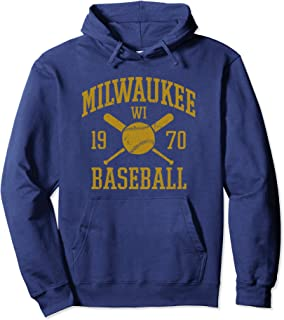 Vintage Milwaukee Baseball Wisconsin Brewer Retro Gift Pullover Hoodie