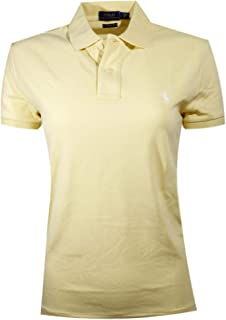 Ralph Lauren Polo Womens Classic Fit Mesh Polo Shirt (X-Small, Banana Peel (White Pony))