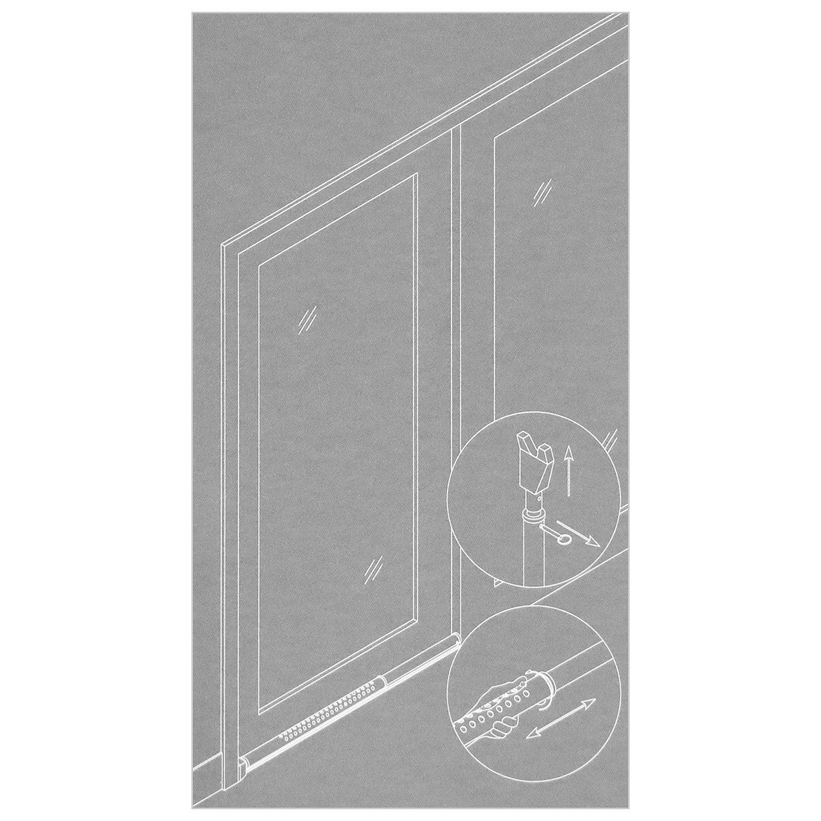 Basi® 2 x Puerta de seguridad Barra 700 – 1.100 mm telescópico ...