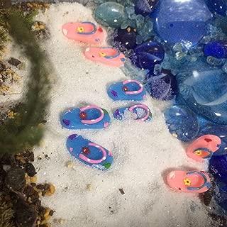 FUNSHOWCASE Beach Holiday Flip Flops Sandals Fairy Garden Miniature, Lot 4-Pairs