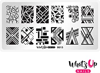 Whats Up Nails - B015 Geo-Radical Stamping Plate for Nail Art Design
