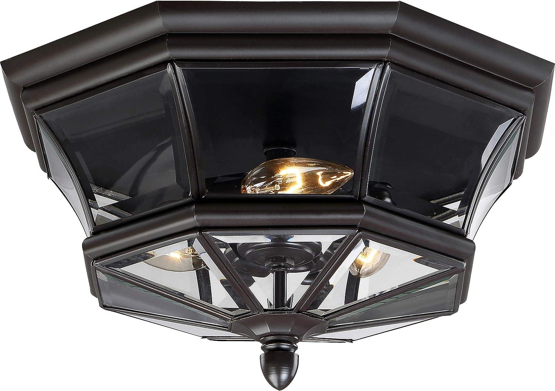Long-awaited Quoizel NY1794Z wholesale Newbury Outdoor Flush 3- Ceiling Mount Lighting