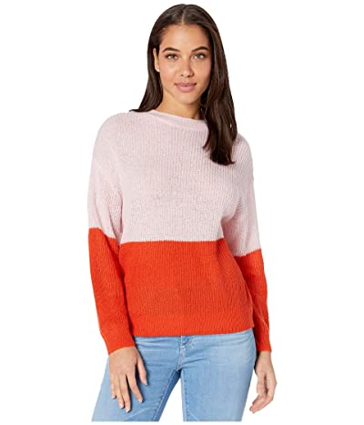 Cupcakes and Cashmere Janus Color-Block Pullover Sweater (Strawberry Cream) Women