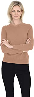 Crew Neck Pullover 100% Cashmere Long Sleeve Sweater for Women