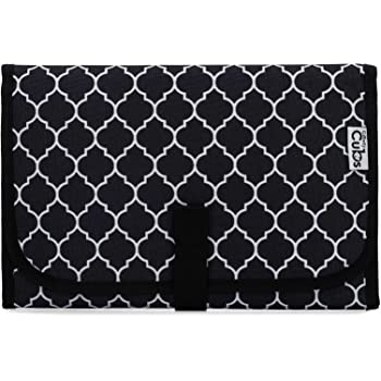 Baby Portable Changing Pad, Diaper Bag, Travel Mat Station, Black Compact