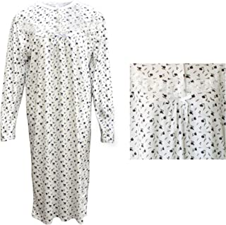 Zmart Australia 100% Cotton Women Nightie Night Gown Pajamas Pyjamas Winter Sleepwear PJs Dress