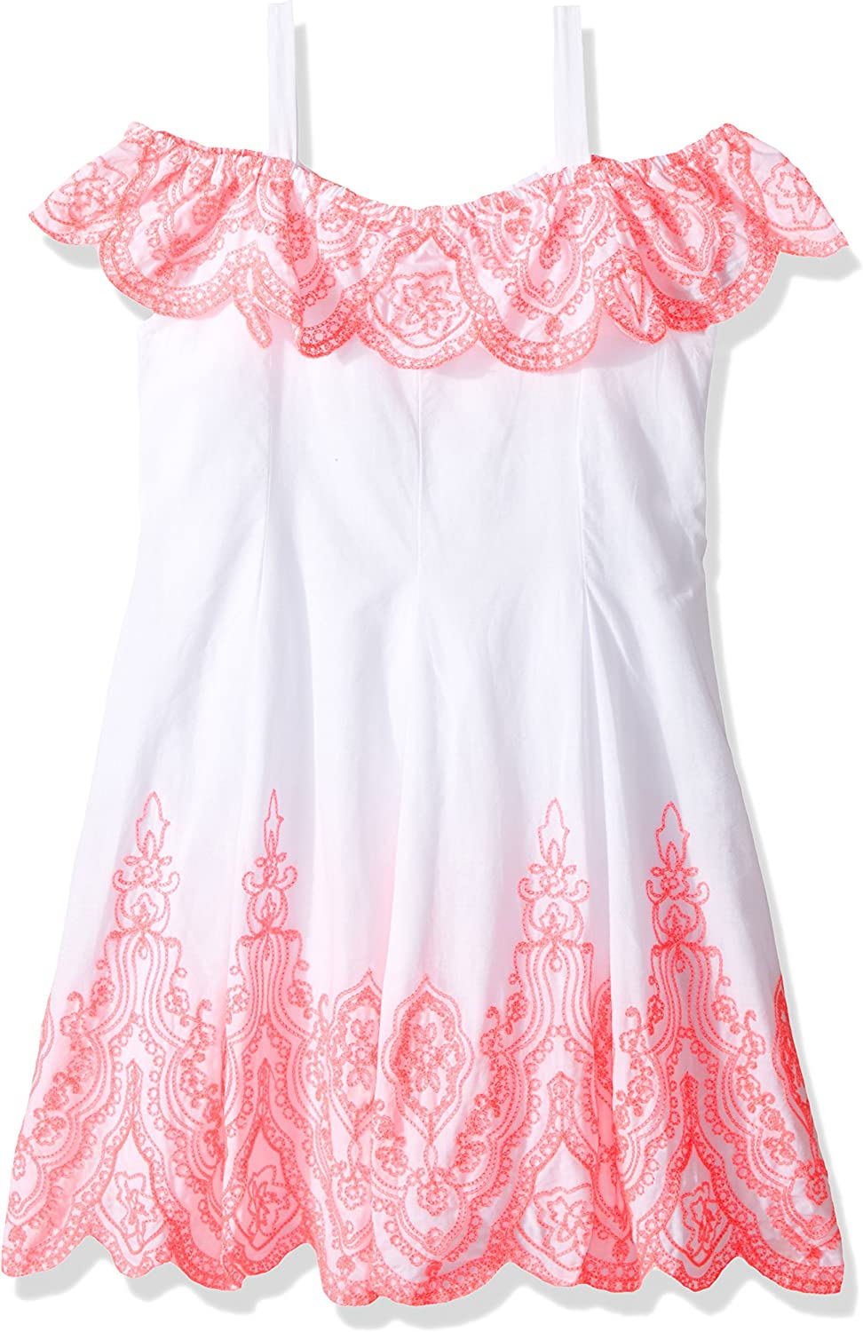 Kate Mack Girls Tropical Mermaid Embroidered Dress