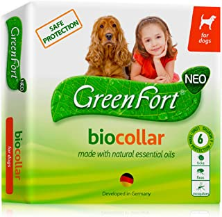 Flea and Tick Collar for Dogs - Natural Flea Treatment for Pets Dogs and Puppies - Flea Prevention Up to 6 Months -Non-Allergic Repellent - Immediate Flea Control