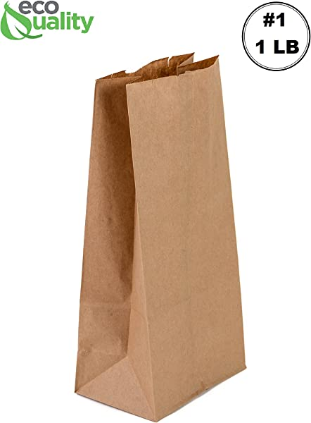 EcoQuality 500 Mini Brown Kraft Paper Bag 1 Lb Small Paper Lunch Bags Small Snacks Gift Bags Grocery Merchandise Party Bags 3 1 2 X 2 3 8 X 6 7 8 1 Pound Capacity