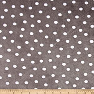 Shannon Fabrics Minky Cuddle Alotta Dots Fabric by The Yard, Graphite