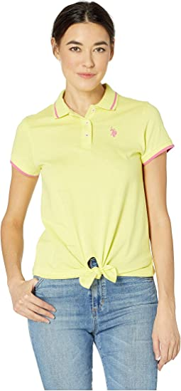 Tie Front Polo Shirt