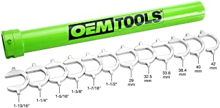 OEM TOOLS 27178 Master Inner Tie Rod Tool Set | Remove & Reinstall Tie Rods in Cars, Pickups, and SUVs | Includes 12 Crowfoot Adapters & 1/2 Inch Drive Tube | Get Proper Torque | Green