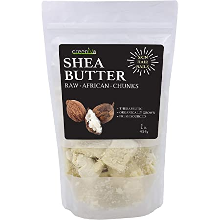 GreenIVe 100% Pure Shea Butter Raw Exclusively on Amazon (1 Pound Pouch)