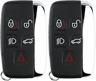 KeylessOption Keyless Entry Remote Control Car Smart Key Fob Replacement for Jaguar KOBJTF10A (Pack of 2)
