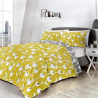 Parure de lit 3D avec Housse de Couette et taie d'oreiller Parure de lit avec Housse de Couette en Ocre Taille (220x240c...