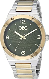 G by GUESS Men's Stainless Steel Analog Quartz Watch Two Tone Strap, Silver, 5 (Model: G10984G1)