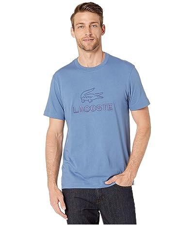 Lacoste Short Sleeve Supple Jersey Graphic Anim T-Shirt Regular (King) Men