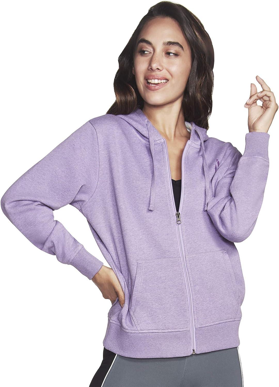 Skechers Women's Diamond Logo Full Zip Hoodie Sweatshirt