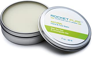 Natural Hand and Foot Balm for Athletes with Tea Tree and Lemongrass. for Cracked, Damaged Heels from Running, Hiking. Moisturize Dry, Chapped Hands from Climbing, Lifting and Other Sports.