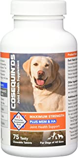 COSEQUIN Maximum Strength Joint Supplement Plus MSM & HA - With Glucosamine and Chondroitin - For Dogs of All Sizes