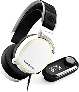 Steelseries Arctis Pro + GameDAC Gaming Headset - White, Dedicated DAC and Amplifier, Audiophile
