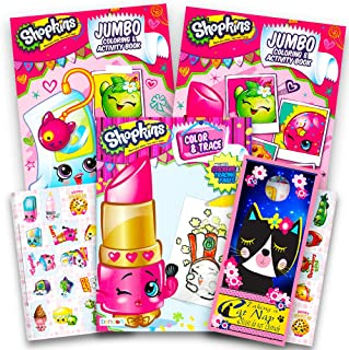 Shopkins Ultimate Coloring and Activity Book Set -- 3 Coloring Books, Over 30 Stickers, Tracing Pages and Door Hanger