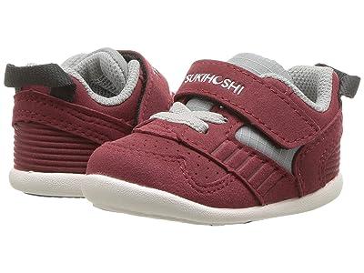 Tsukihoshi Kids Racer (Infant/Toddler) (Crimson/Gray) Kids Shoes